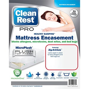 CleanRest Pro Bed Bug Mattress Cover 300x300