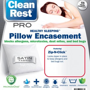 CleanRest Pro Bed Bug Pillow Cover Package