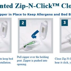 CleanRest Zip-N-Click Closure System