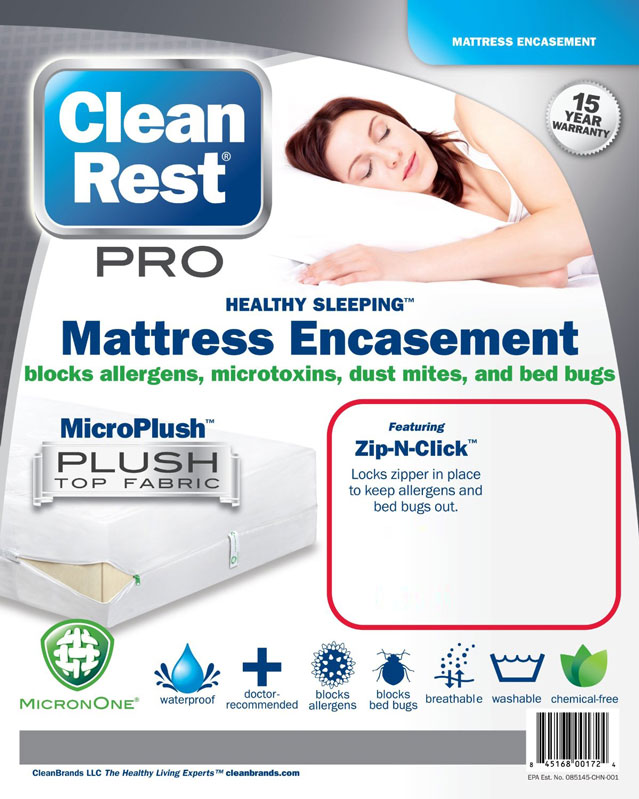 CleanRest Pro Bed Bug Mattress Cover Package